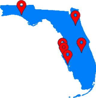 National Hernia Network is a network of hernia care doctors and specialists throughout Florida, Map